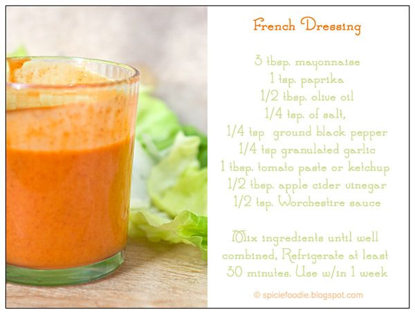 recipe, French salad dressing, salad dressing, salad, dressing, French, orange dressing, red dressing, Spicie Foodie, food, blog, food blog,...