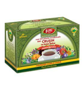 Ceai crusin cu lemn dulce 20 dz Fares
