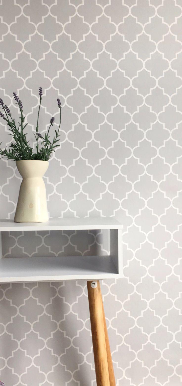 Moroccan Print grey #wallpaper #removablewallpaper #selfadhesivewallpaper #bcmagicwallpaper #moroccan #moroccanprint #greywallpaper