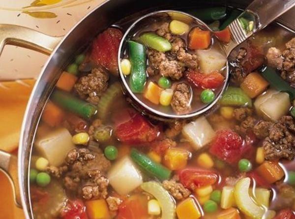 Family Hamburger Soup Recipe