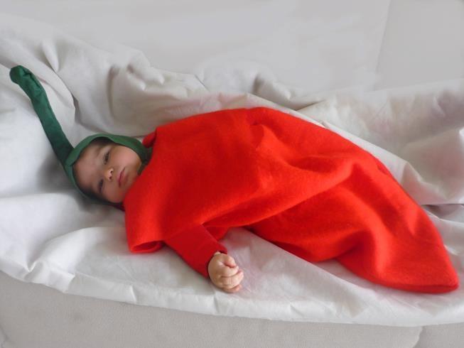 My baby as a red jalapeño. #DIY