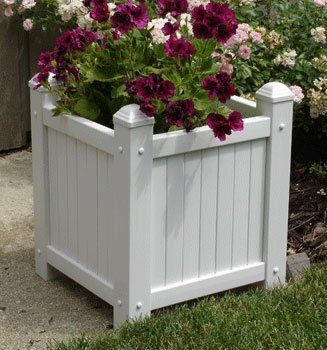 Dura-Trel 11185 Small Slat Planter by Dura-Trel, Inc.. $53.22. Fits 1-12-inch round pot. No Assembly Required. Easy to Plant; direct plant using landscape fabric or cocoa matting (not included). 20 Year Warranty; 100-percent maintenance free; PVC vinyl will not crack, fade, peel or discolor. Easy to Clean; simple spray with a garden hose and wipe clean. Made in USA. This square planter box comes fully assembled and ready to plant, just add dirt and plant. The Small Sl...