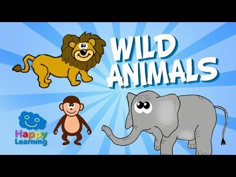 Los Animales Salvajes en Inglés. Videos Educativos para Niños - YouTube