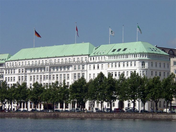 HOTEL VIER JAHRESZEITEN, Hamburg, Schleswig-Holstein, Germany.  This hotel is not only Germany's best, it is one of the world's greats.  It miraculously escaped ruin during WWII despite most of Hamburg being destroyed.  Hamburg is Germany's second largest city and is known for being a livable and lovely city.