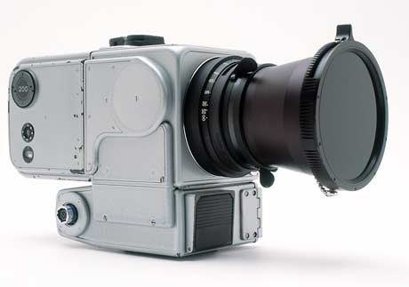 The Hasselblad EC (Electric Camera) 500 EL was the first camera on the moon and the one that took iconic images of the earth from space and the moon. Images that have probably been seen by more people than any other photographs in history.