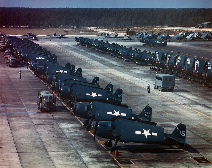 View Of The Flight Line At Naval Air Station Nas