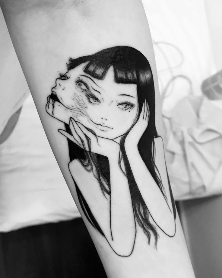 My Tomie tattoo by @/_suzani
