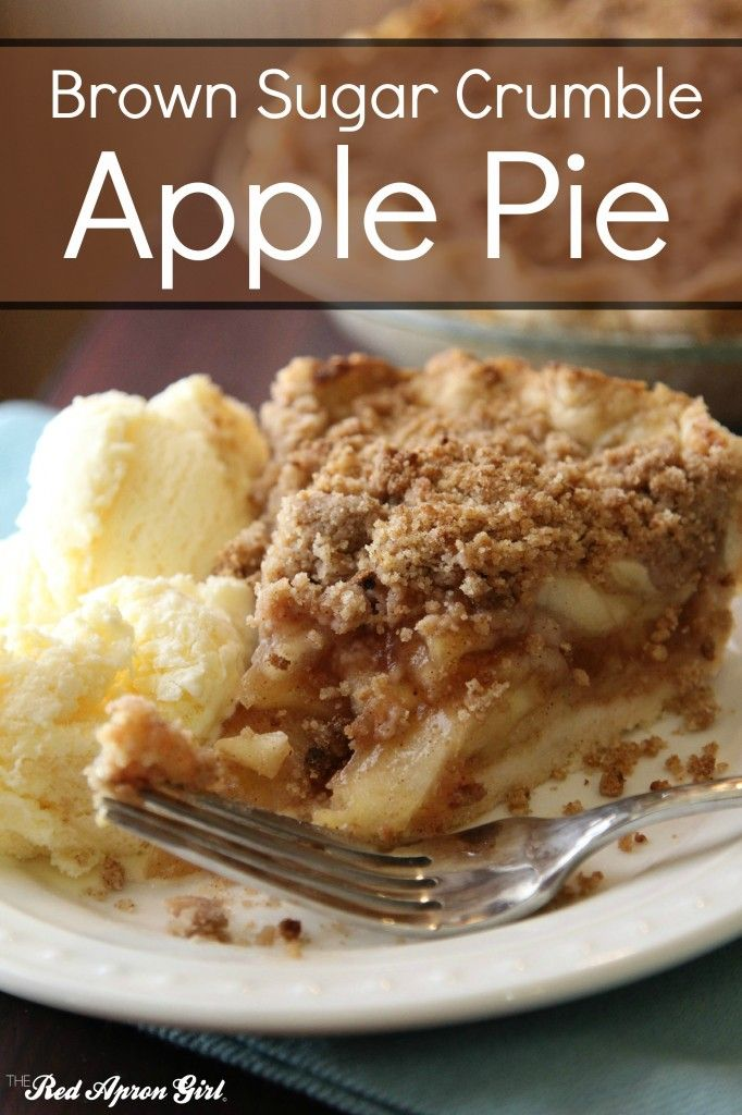 Brown Sugar Crumble Apple Pie, this is my favorite apple pie