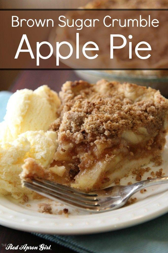 Brown Sugar Crumble Apple Pie, this is my favorite apple pie