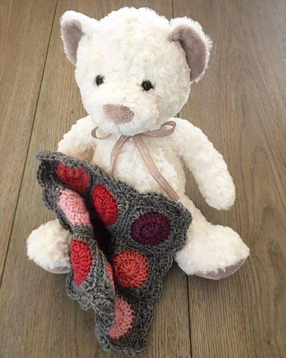 Crochet baby blanket bundle matching lovey pram or cot