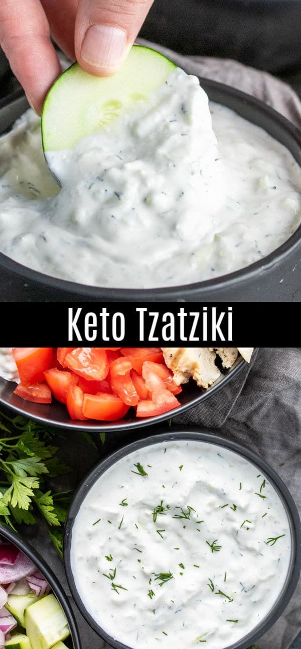This Easy Recipe For Tzatziki Sauce Is A Keto Version Made With Sour Cream Instead Of Greek Yog In 2020 Tzatziki Sauce Recipe Easy Greek Recipes Homemade Sauce Recipes