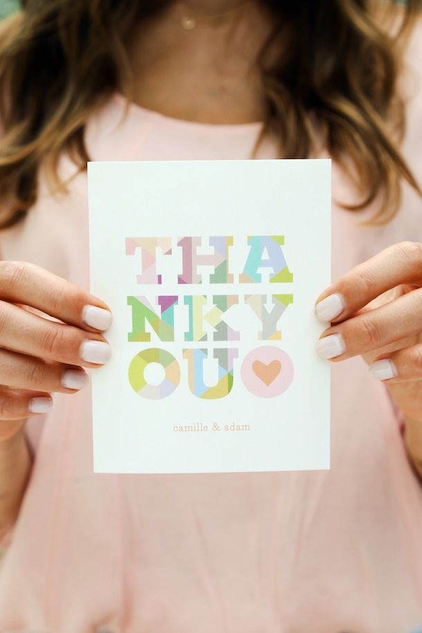 bridal shower thank you cards etiquette%0A Camille u    s Thank You Notes from Minted   Photography by Emma Banks for  Camille Styles