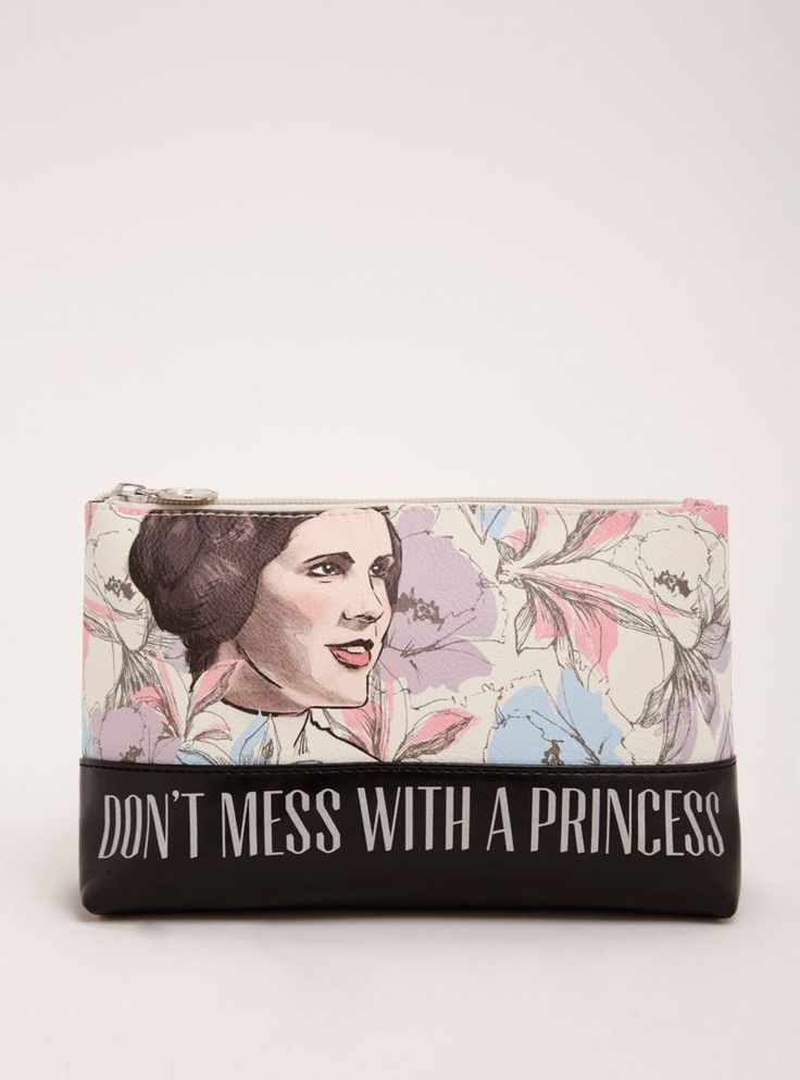 This gorgeous Princess Leia floral makeup bag is now available at Torrid