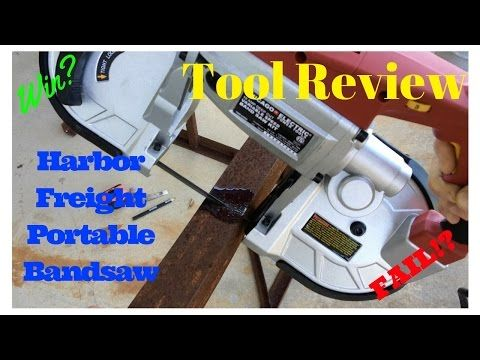 Review of Harbor Freight portable bandsaw, and the easiest bandsaw stand on the web.  FarmCraft101 - YouTube