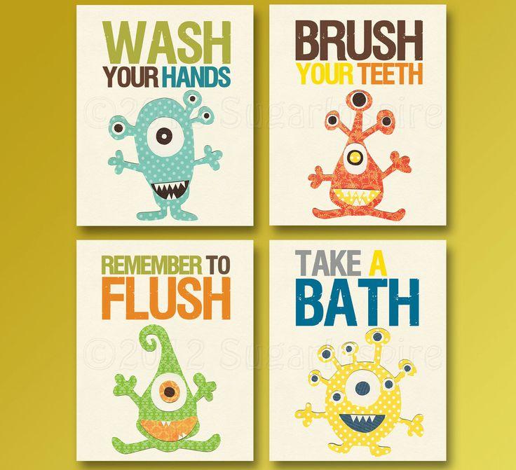 13 best Monster Bathroom images on Pinterest | Kid bathrooms ...