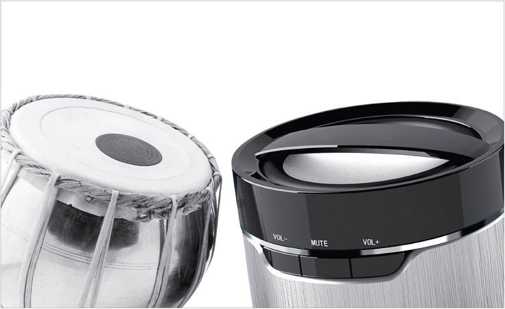 Stylish iBall USB Drum Speakers