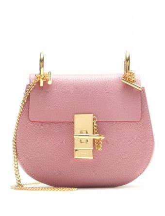 bag cloe - Chlo�� - Drew Small leather shoulder bag - The faded rose leather ...