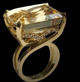 Aneis em ouro amarelo com brilhantes - Lydia Sayeg