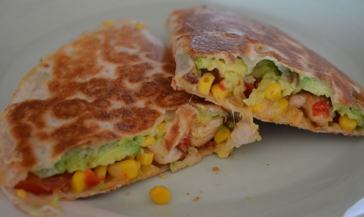 Recept: Quesadilla's kip avocado