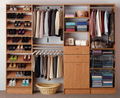 I love the shoe rack and organization of items on the bottom right!