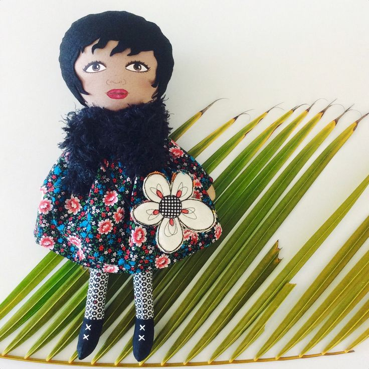 Zahara :: new in store now! Hand painted doll stuffed with soft recycled stuffing made from plastic bottles!