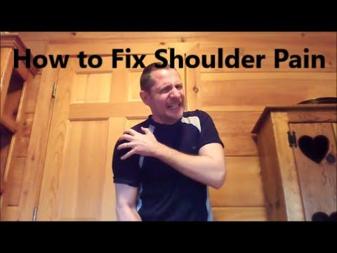 SHOULDER BURSITIS - 2 Medically Proven Exercises to Take Away the Pain / Dr Mandell - YouTube