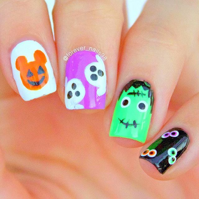 halloween nails here are my easy and cute halloween nail designs youtube tutorial link - Easy Cute Halloween Nail Designs