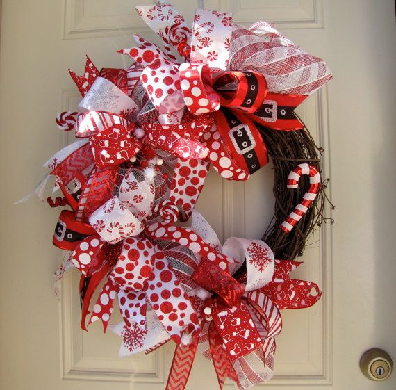 Deluxe red and white christmas holidays indoor by for Beautiful indoor christmas decor