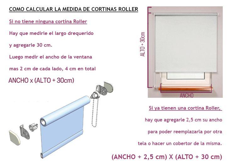 Hacer cortinas roller con tela