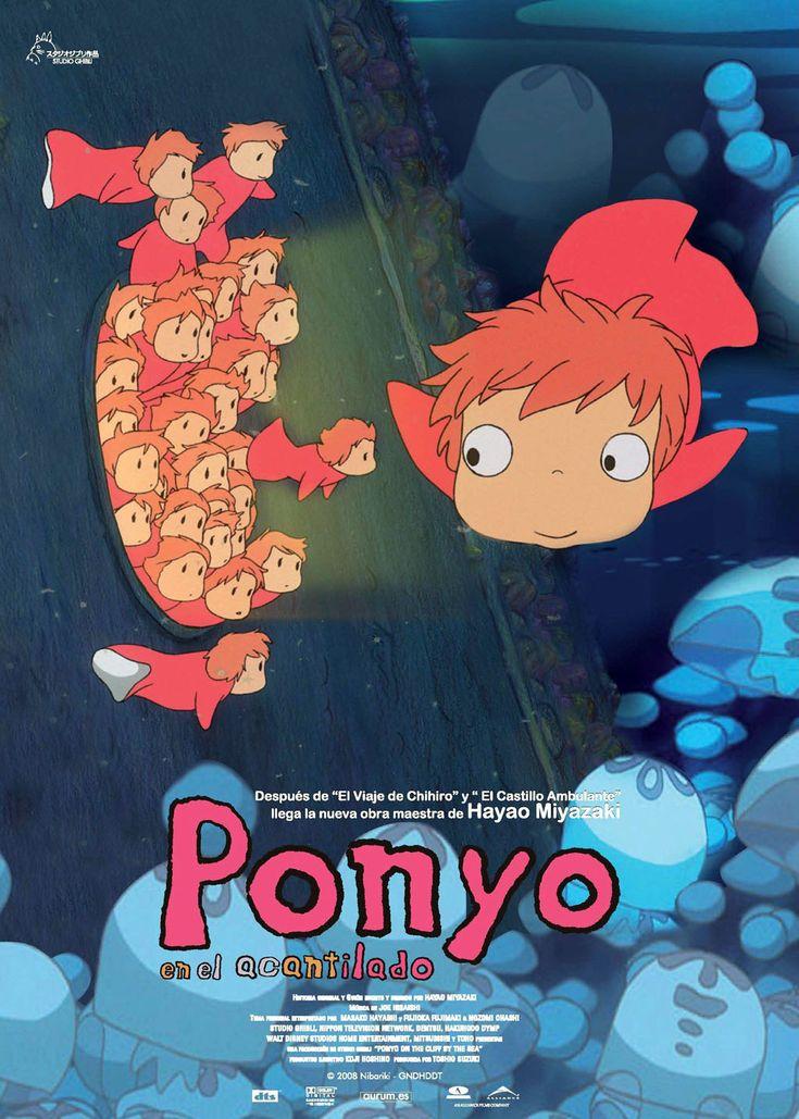 Ponyo en el acantilado  #Miyazaki http://cuchurutu.blogspot.com/2014/05/felizlunes-las-peliculas-de-hayao.html