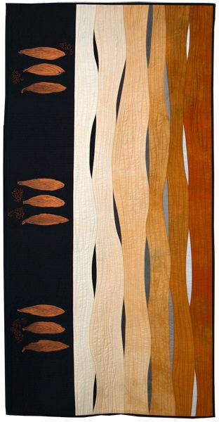 """Shining Through."" Minimalist Contemporary art quilt. I am attracted by it's striking simplicity."