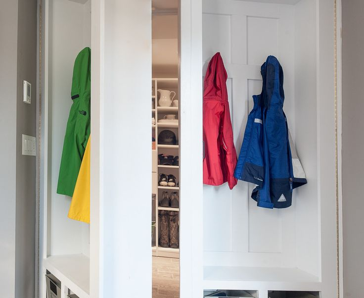 Lockers that open into secret closet/storage room