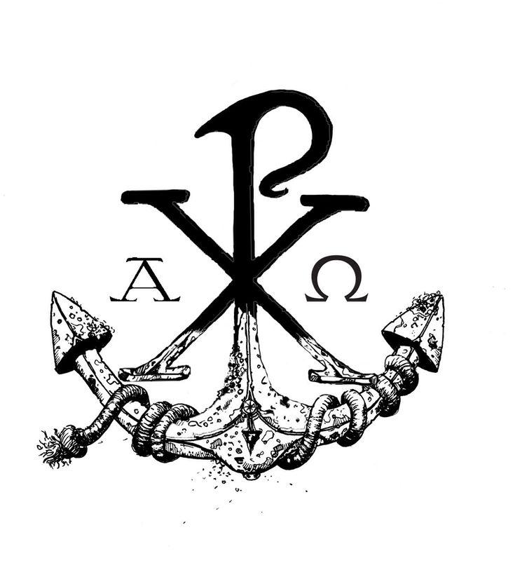 Chi Rho anchor tattoo Idea