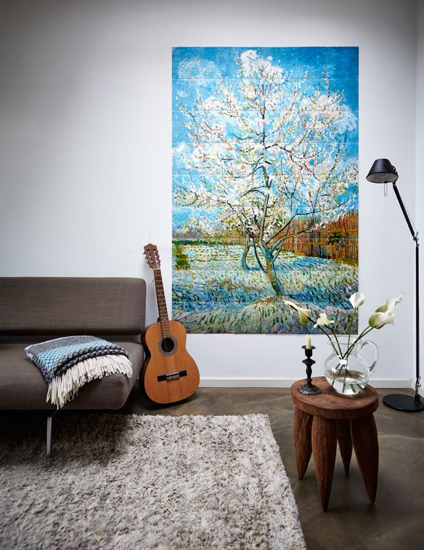 IXXI wall decoration made with Van Gogh's painting 'Pink peachtree'. Van Gogh Museum image bank collection. Price in this example is $186.85 (120 x 80 cm) #ixxi #ixxidesign