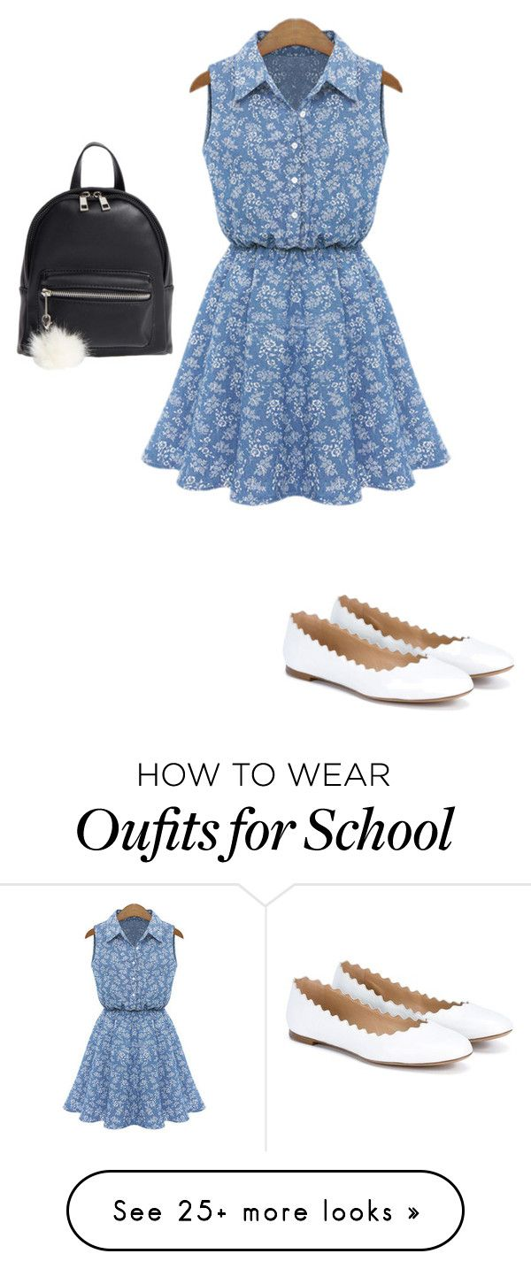 """""""Snow at school"""" by crystalrose-014 on Polyvore featuring BP. and Chloé"""