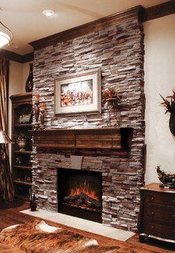 Virginia Ledgestone Fireplace - Coronado Ledgestone  Another fireplace Jeff likes with Coronado Ledgestone.