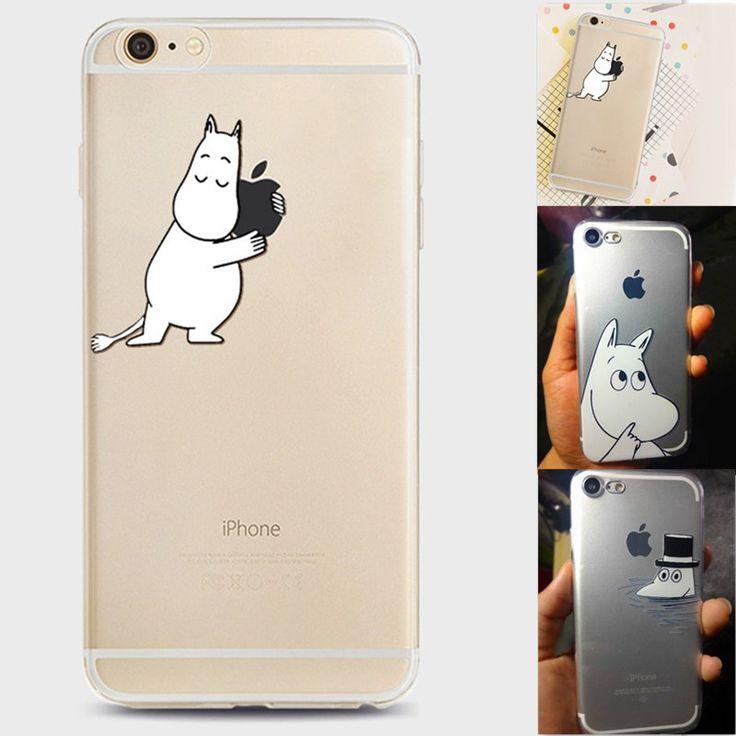 Moomin muumi hippo Cases For Apple iPhone 7 Plus 6 6s Plus 5s SE Case Transparent Clear Soft Silicone TPU Phone Cartoon Cover