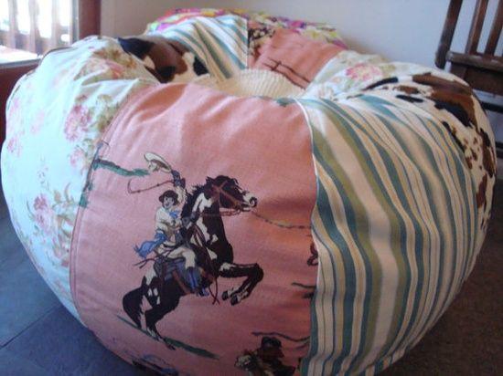 cowgirl chic decor | NEW Vintage Styled Rodeo Cowgirl Shabby Chic bean bag by Paniolo, $160 ...