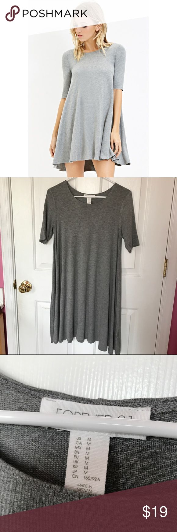 "🆕 Forever 21 Stretch Trapeze Dress Brand new with tags. Description STYLE DETAILS: A Dress Made From A Stretch Knit With 3/4 Sleeves And A Trapeze Silhouette. Unlined 95% Rayon, 5% Spandex FIT DETAILS: Measured From Small 34"" Full Length, 34"" Chest, 48"" Waist, 12"" Sleeve Length Forever 21 Dresses Mini"