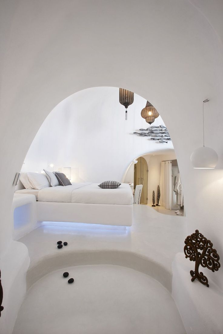 Cycladic bedroom design