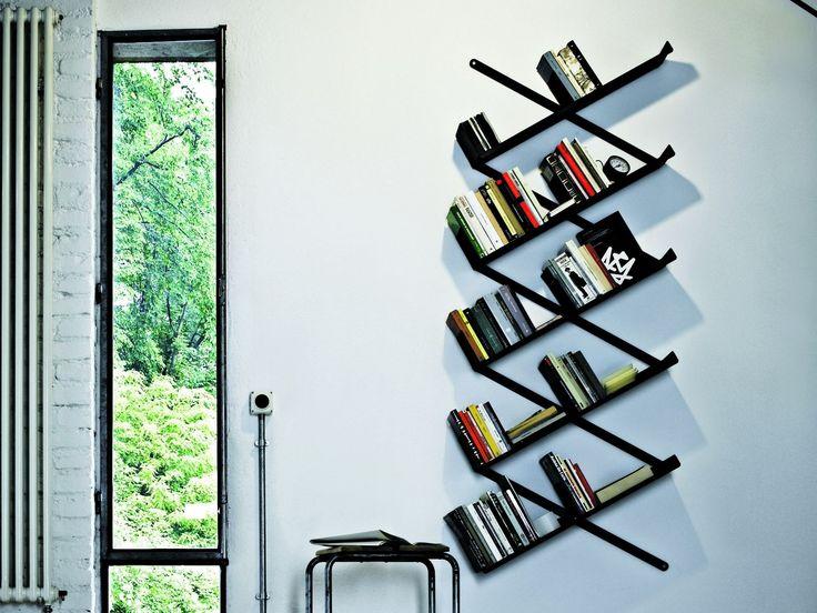 Wand Bücherregal Aus Stahl MINIBOOXX By Desalto Design Denis Santachiara