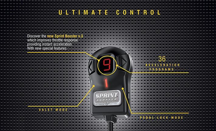 Sprint Booster Throttle Remapper: Improve the throttle response of your Drive-by-Wire system and tweak your vehicle's response to uphill starts, quick gearchanges, overtaking and more. Sprint Booster Throttle Remapper compensates for subdued response and puts the fun back in driving.