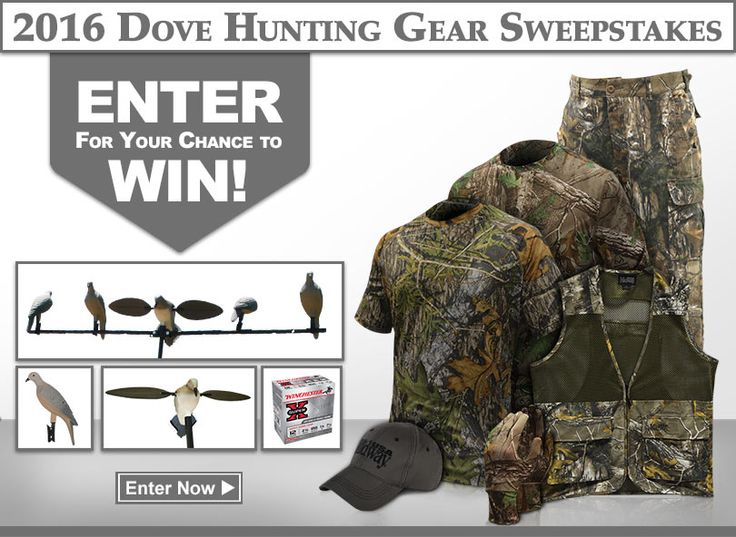 http://woobox.com/xivn5c/ho6cnw  Dove hunting gear giveaway