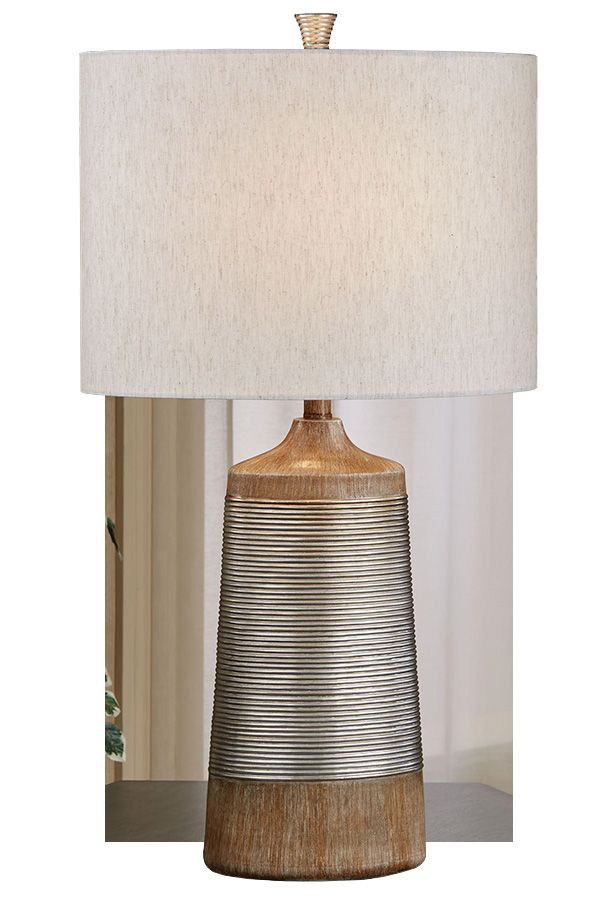 Wilson Silver Gold And Faux Wood Table Lamp Table Lamp Wood Table Lamp Lamp