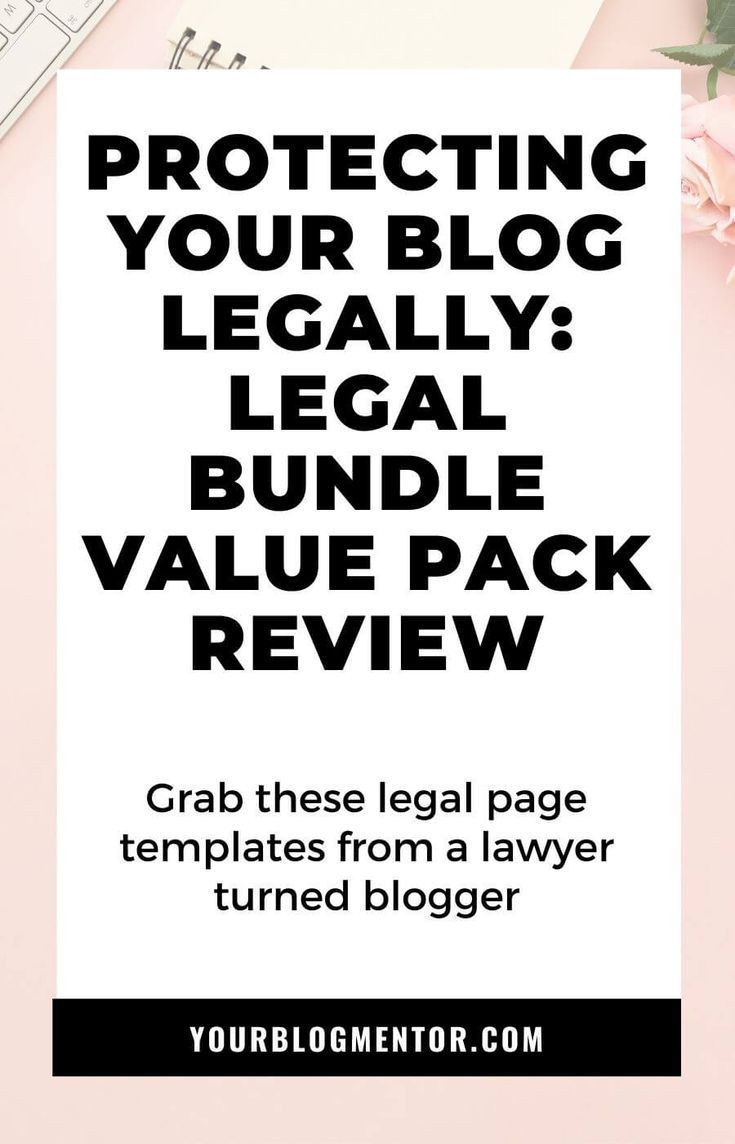 Protecting Your Blog Legally Legal Bundle Value Pack Review How