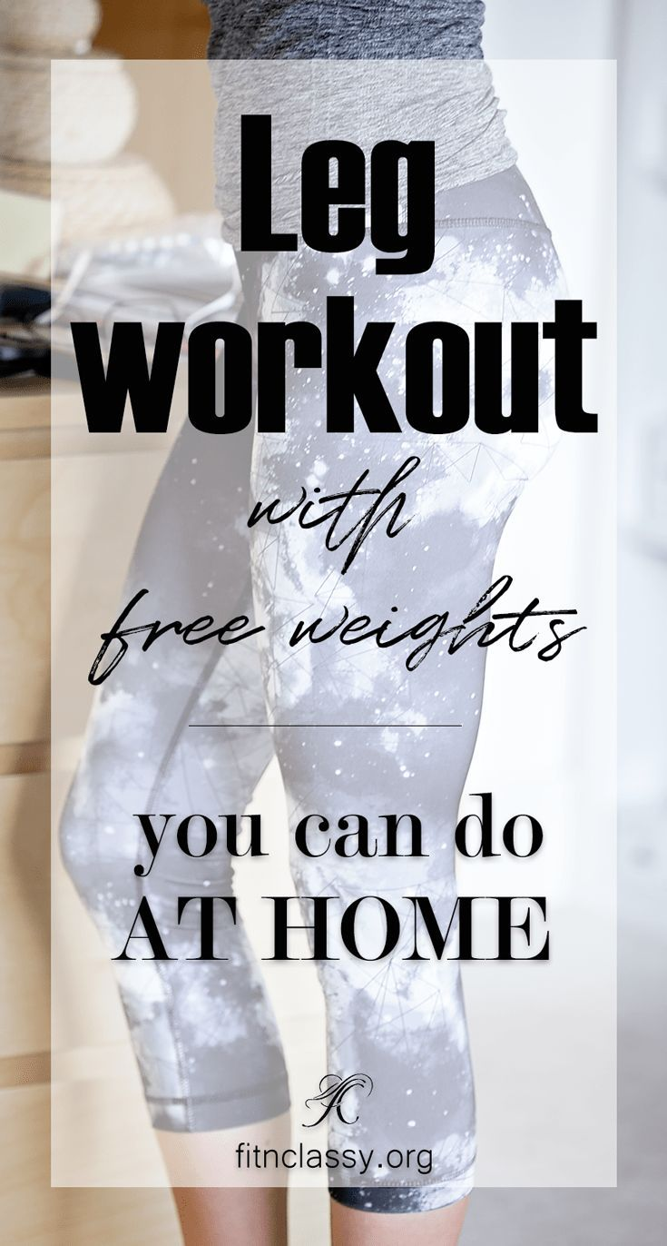 Leg Workout with Free Weights. My own home workout which might be a great inspiration for you. #fitness #workout #legday