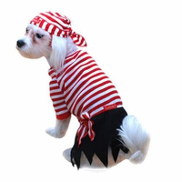 Our Cute Pirate Mate Dog Costume is the ideal Dog Pirate Costume for your pet. If you are looking for a great pet and owner costume idea consider all our Pirate Costumes for the whole family. - Red an