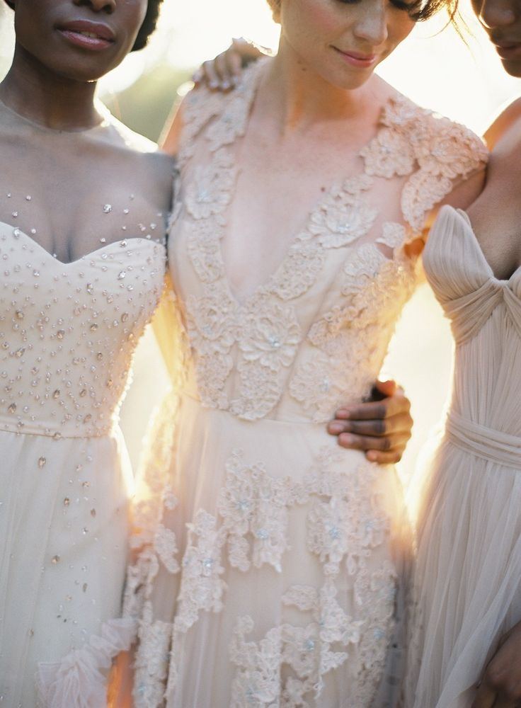 bridesmaids, brides - stunning for either! Photography: Jose Villa Photography
