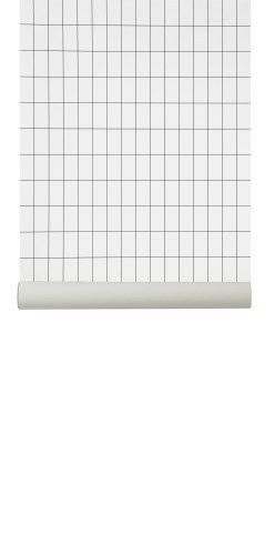 Ferm Living Wallpaper, Grid Black. Cool Danish Wallpaper Design