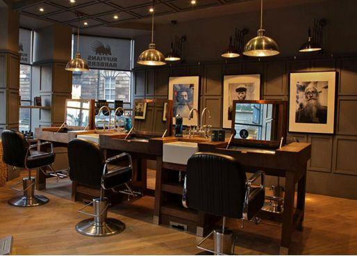 32 best barbershop images on pinterest - Barber shop interior ...